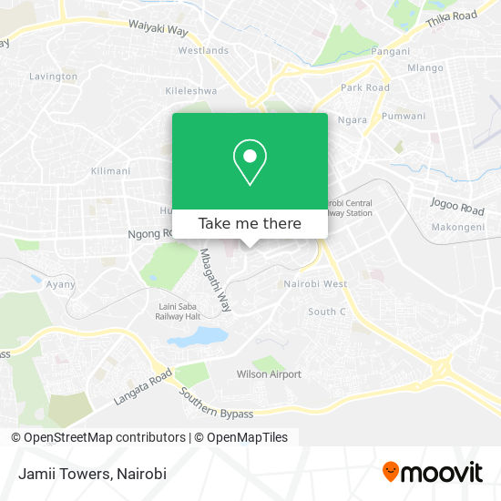 Jamii Towers map