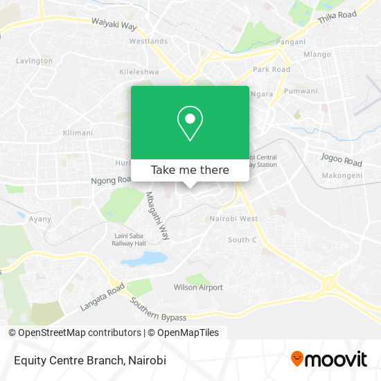 Equity Centre Branch map