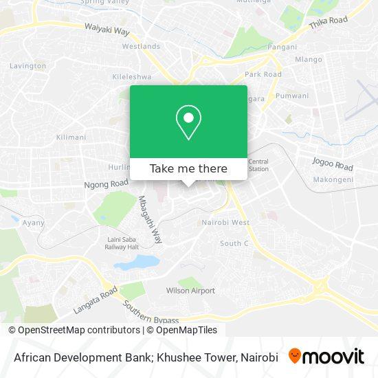 African Development Bank; Khushee Tower map