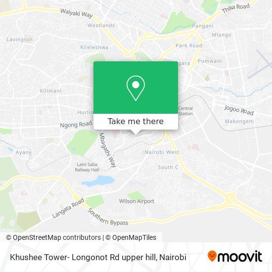 Khushee Tower- Longonot Rd upper hill map