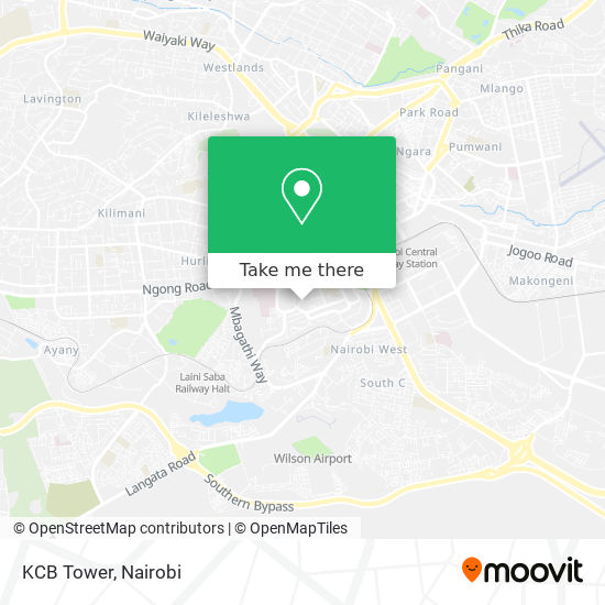 KCB Tower map