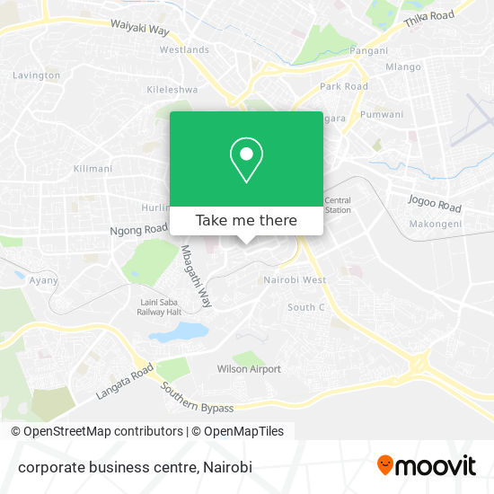 corporate business centre map
