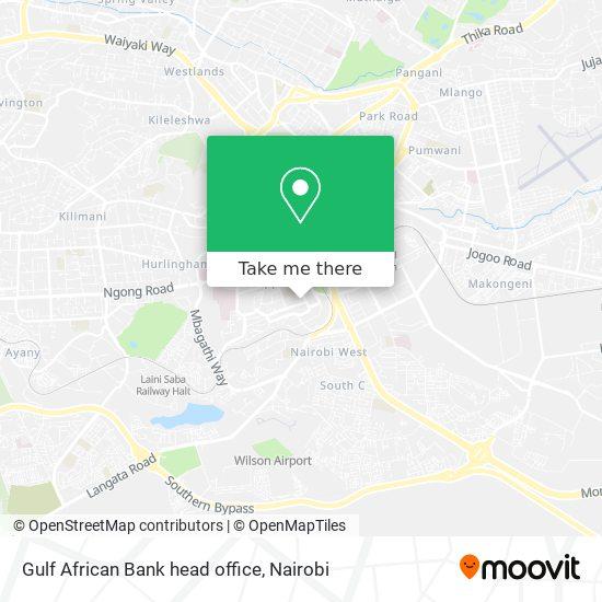 Gulf African Bank head office map