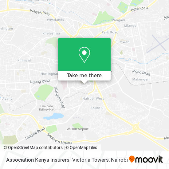 Association Kenya Insurers -Victoria Towers map
