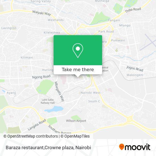 Baraza restaurant,Crowne plaza map