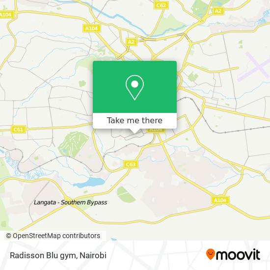 Radisson Blu gym map