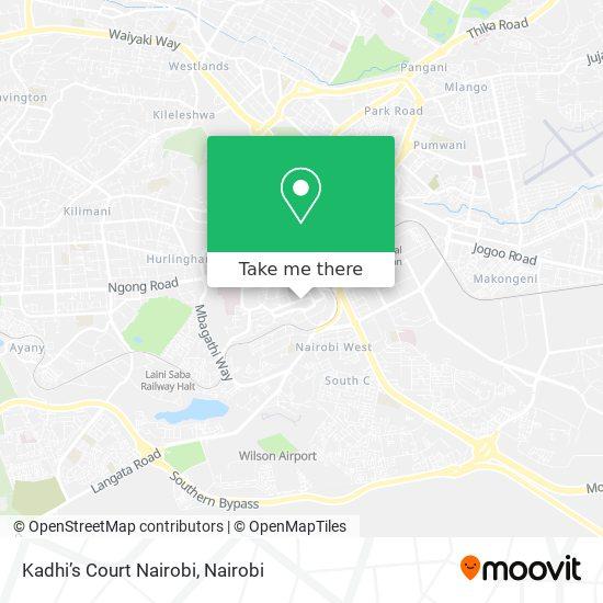 Kadhi's Court Nairobi map