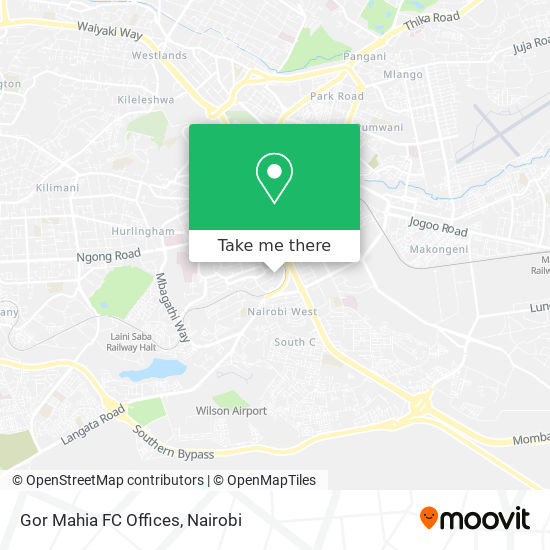 Gor Mahia FC Offices map
