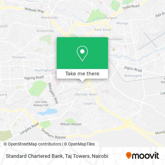 Standard Chartered Bank, Taj Towers map