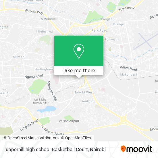 upperhill high school Basketball Court map