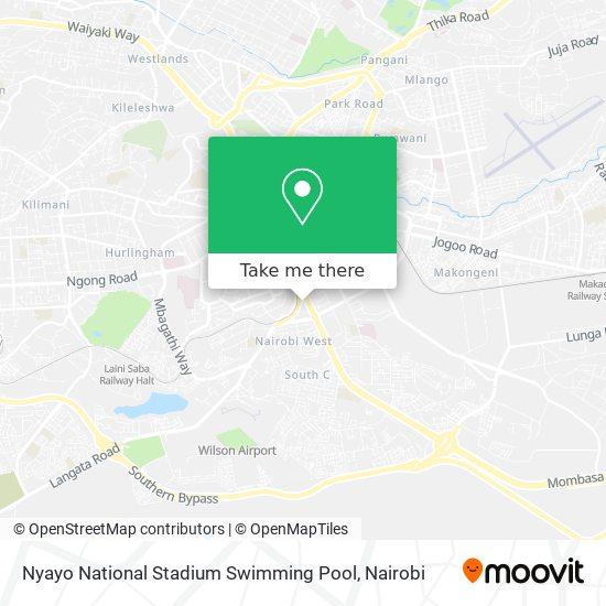 Nyayo National Stadium Swimming Pool map