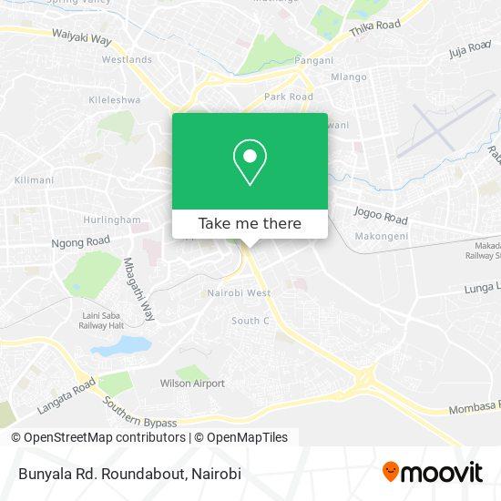 Bunyala Rd. Roundabout map