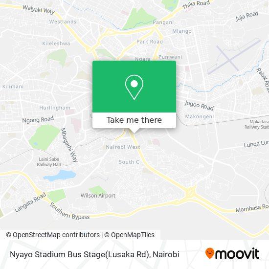 Nyayo Stadium Bus Stage(Lusaka Rd) map