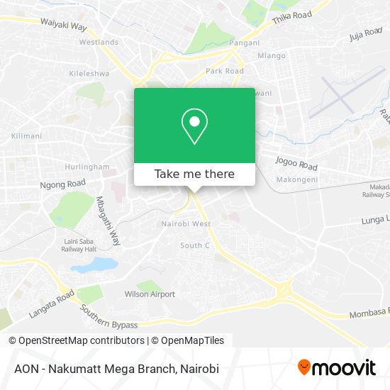 AON - Nakumatt Mega Branch map