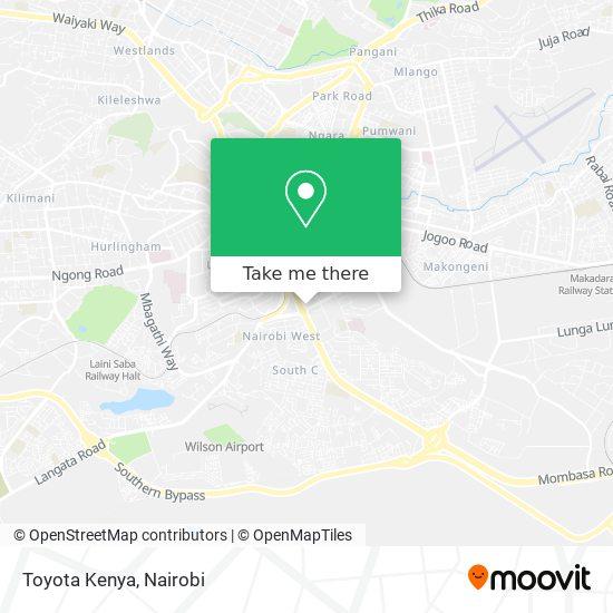 Toyota Kenya map