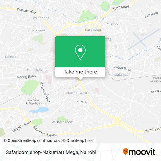 Safaricom shop-Nakumatt Mega map