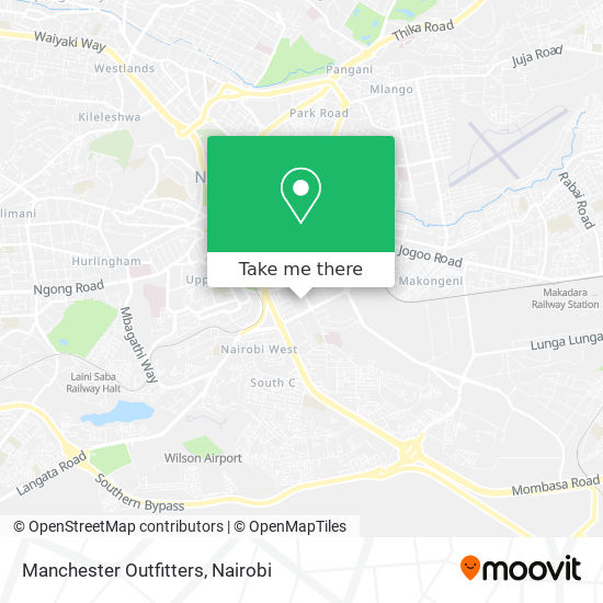 Manchester Outfitters map