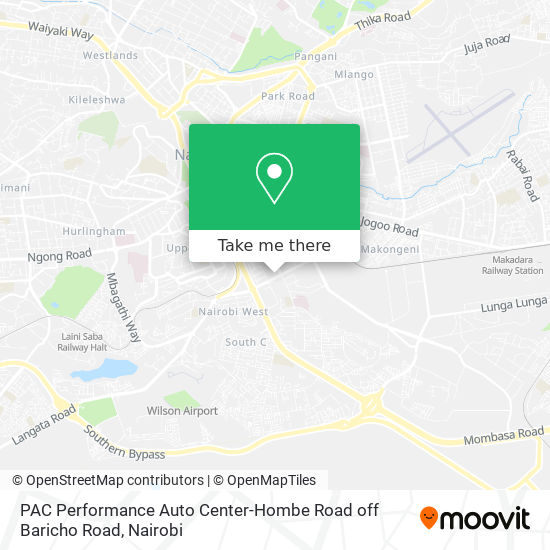 PAC Performance Auto Center-Hombe Road off Baricho Road map