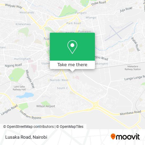 Lusaka Road map