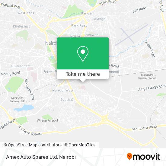 Amex Auto Spares Ltd map
