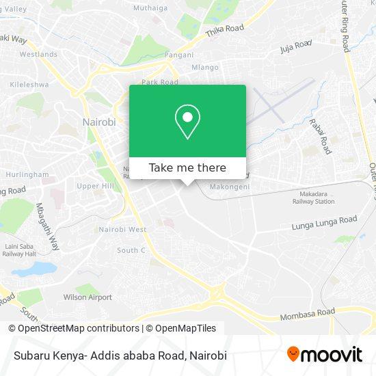 Subaru Kenya- Addis ababa Road map