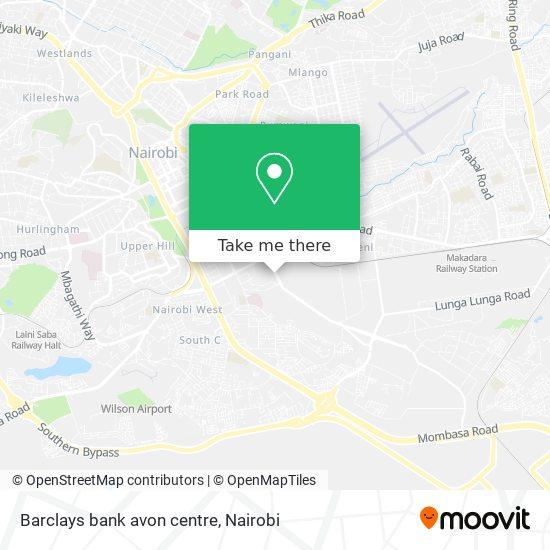 Barclays bank avon centre map