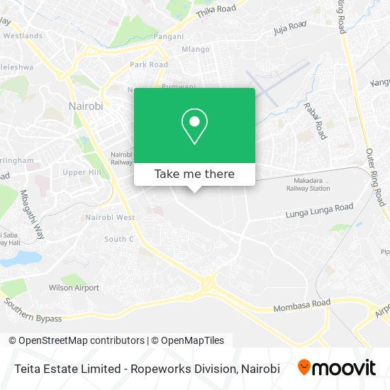 Teita Estate Limited - Ropeworks Division map