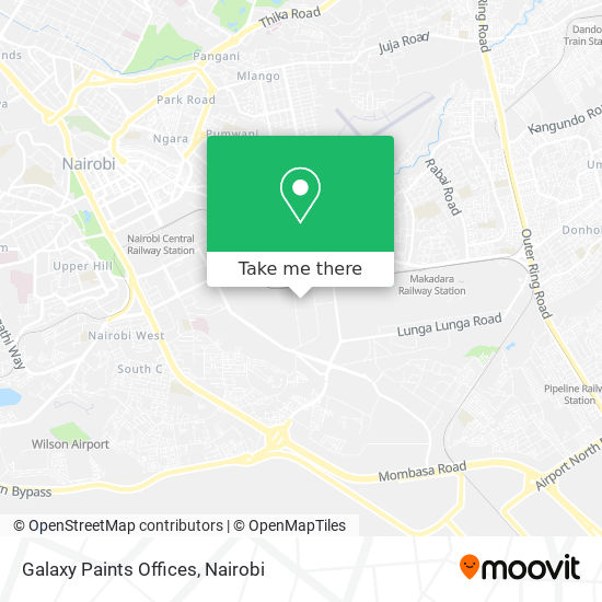 Galaxy Paints Offices map