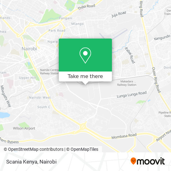 Scania Kenya map