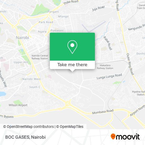 BOC GASES map