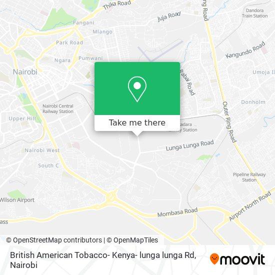 British American Tobacco- Kenya- lunga lunga Rd map