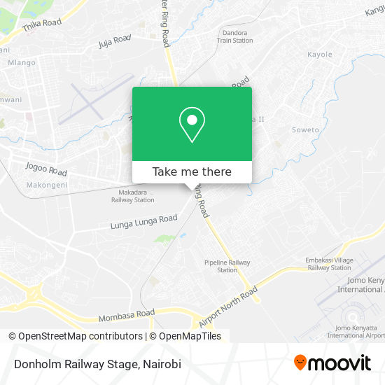 Donholm Railway Stage map