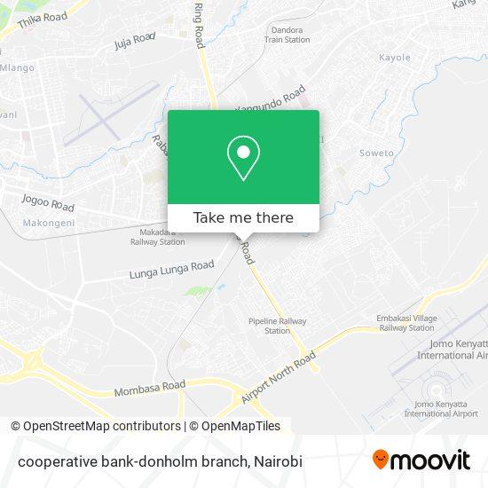 cooperative bank-donholm branch map