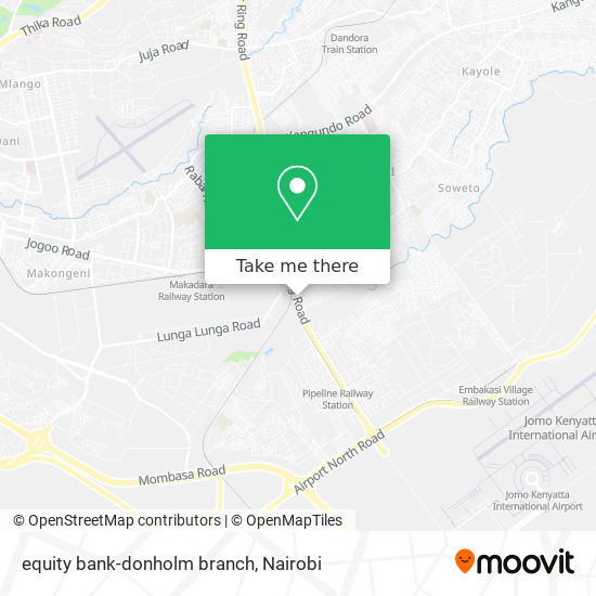 equity bank-donholm branch map