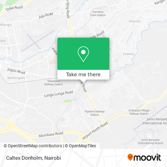 Caltex Donholm map