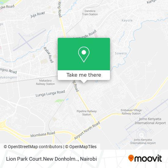 Lion Park Court.New Donholm.. map