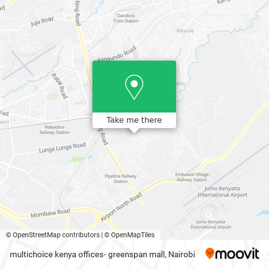 multichoice kenya offices- greenspan mall map