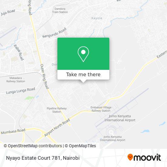 Nyayo Estate Court 781 map