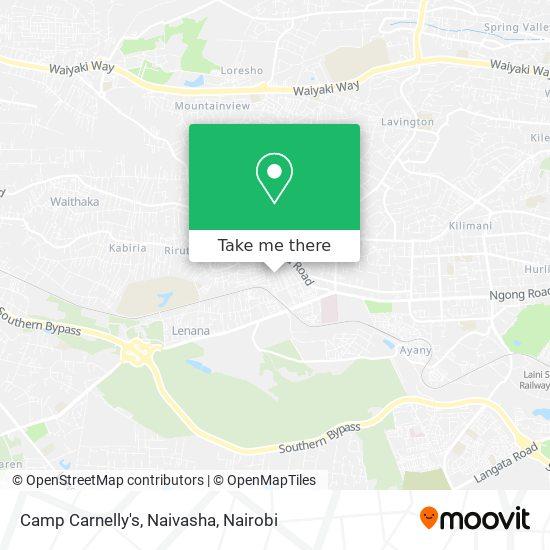 Camp Carnelly's, Naivasha map