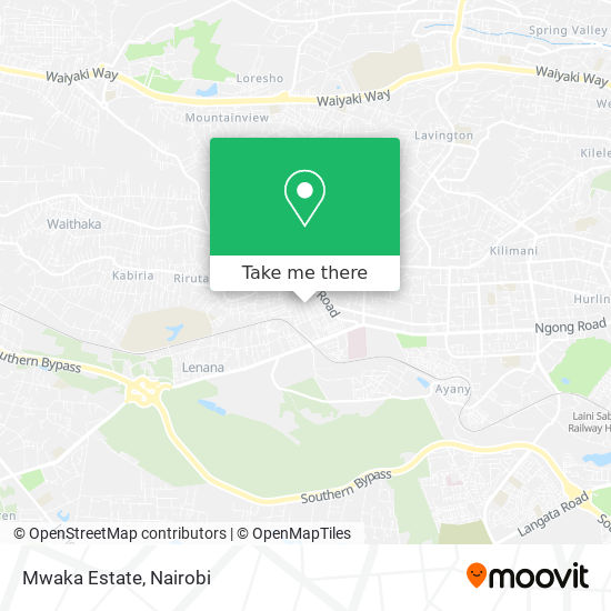 Mwaka Estate map