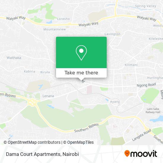 Dama Court Apartments map