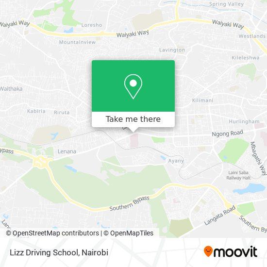 Lizz Driving School map