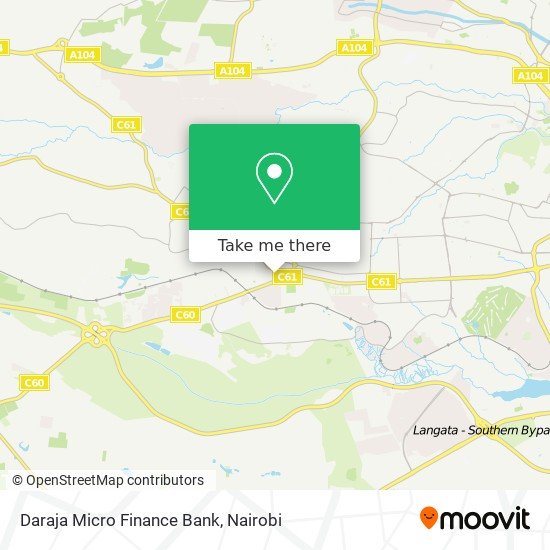 Daraja Micro Finance Bank map