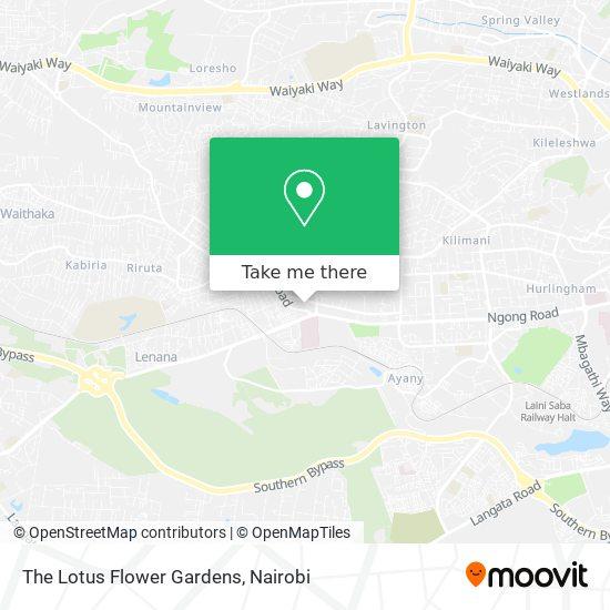 The Lotus Flower Gardens map