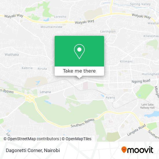 Dagoretti Corner map