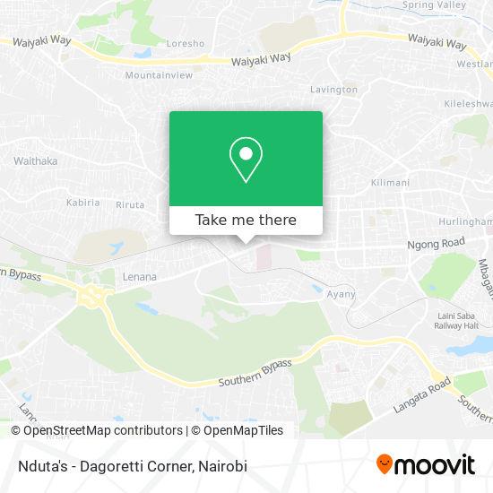 Nduta's - Dagoretti Corner map