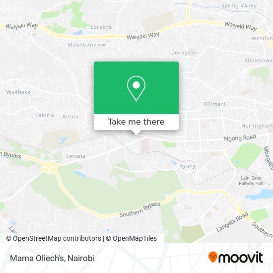 Mama Oliech's map