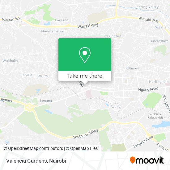 Valencia Gardens map