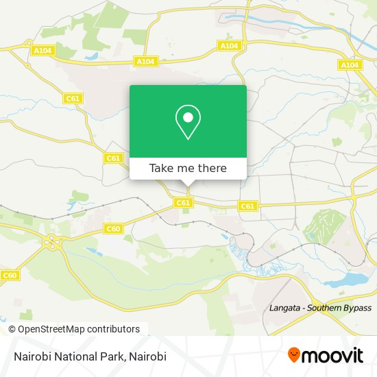 Nairobi National Park map