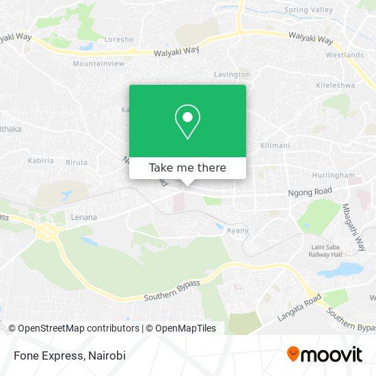 Fone Express map
